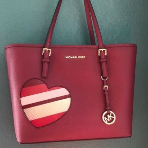Michael Kors hearts md tote.  Cherry